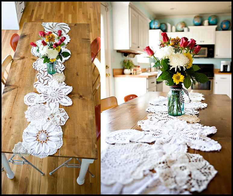 DIY {doily table runner} » ashleyannphotography.com