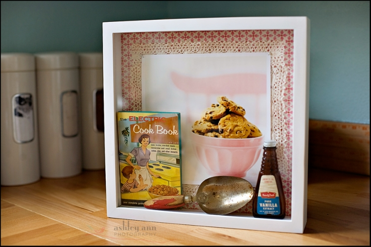 diy shadow box vintage kitchen display